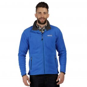 Stanton II Mid Weight Full Zip Fleece Oxford Blue Seal Grey