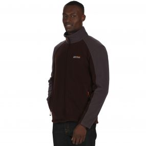 Hedman II Heavyweight Full Zip Fleece Chocolate Iron
