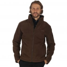 Grove Heavyweight Sherpa Backed Full Zip Fleece Chocolate