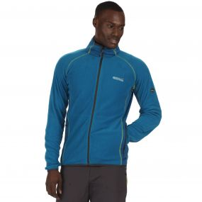 Ashton Lightweight Full Zip Stretch Fleece Petrol Blue