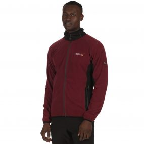 Ashton Lightweight Full Zip Stretch Fleece Spiced Mulberry Black