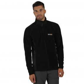 Ashton Lightweight Full Zip Stretch Fleece Black