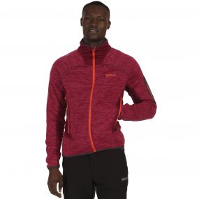 Collumbus III Marl Knit Effect Stretch Fleece Spiced Mulberry