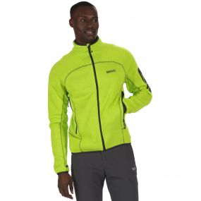 Collumbus III Marl Knit Effect Stretch Fleece Lime Green