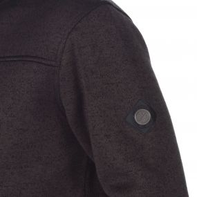 Palin Heavyweight Knit Effect Full Zip Bonded Fleece Ash