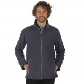 Giffard Mid Weight Full Zip Honeycomb Fleece Seal Grey