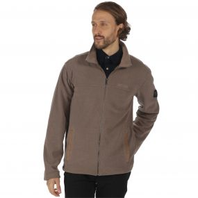 Giffard Mid Weight Full Zip Honeycomb Fleece Sand
