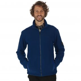 Giffard Mid Weight Full Zip Honeycomb Fleece Laser Blue