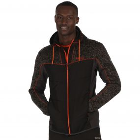 Men's Pendan Hybrid Stretch Fleece Black Seal Grey