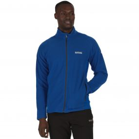 Men's Tafton Full Zip Stretch Honeycomb Fleece Oxford Blue