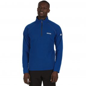 Men's Kenger Half Zip Mid Weight Honeycomb Fleece Oxford Blue