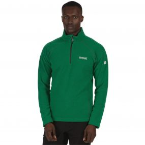 Men's Kenger Half Zip Mid Weight Honeycomb Fleece Highland Green