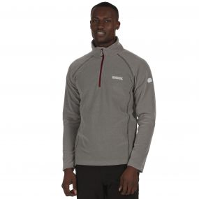 Men's Kenger Half Zip Mid Weight Honeycomb Fleece Rock Grey