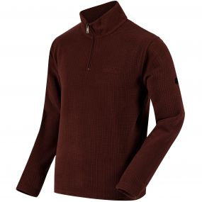 Elgon II Half Zip Textured Grid Fleece Bitter Chocolate