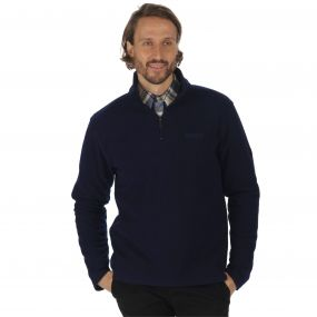 Elgon II Half Zip Grid Textured Fleece Navy