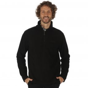 Elgon II Half Zip Grid Textured Fleece Black