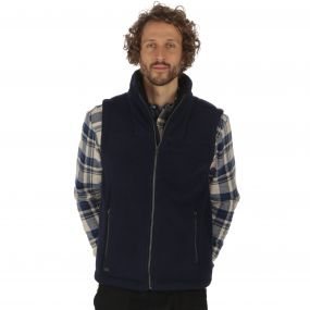 Rafferty II Heavyweight Fleece Gilet Bodywarmer Navy