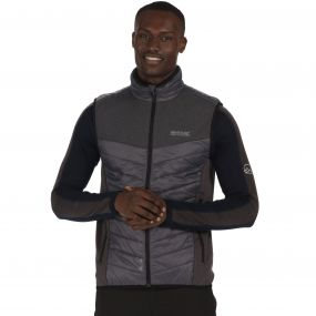 Men's Halton Hybrid Lightweight Gilet Seal Grey Reflective