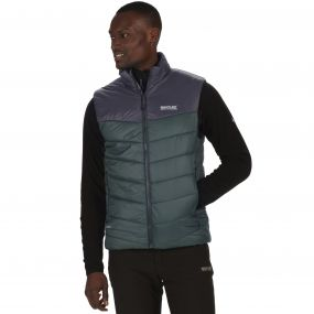 Men's Icebound II Mid Weight Insulated Gilet Darkest Spruce Seal Grey