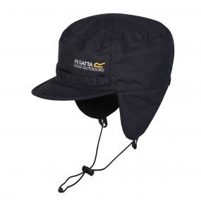 Men's Padded Igniter Waterproof Trapper Hat Black