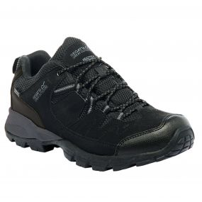 Men's Holcombe Low Walking Shoes Black Granite