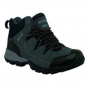 Men's Holcombe Mid Walking Boots Seal Grey Inca Gold