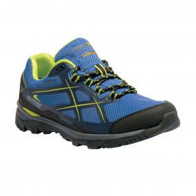 Men's Kota Low Walking Shoes Oxford Blue Lime Green
