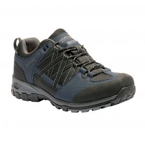 Men's Samaris Low Hiking Shoes Navy Blazer Granite