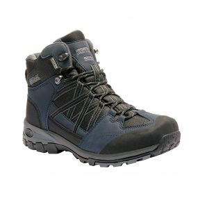 Men's Samaris Mid Hiking Boots Navy Blazer Granite