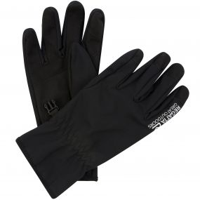 Men's Stretch Softshell Gloves Black