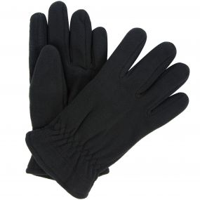 Men's Kingsdale Thermal Microfleece Gloves Black