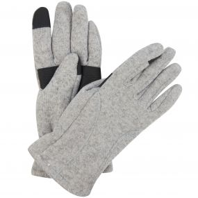 Men's Polarize Knit Effect Fleece Lined Gloves Seal Grey