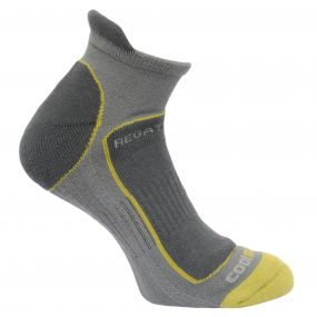 Men's Trail Runner Trainer Socks Granite Oasis Green