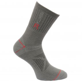 Men's Two Layer Blister Protection Socks Granite Senator Red