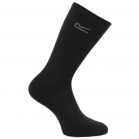 Men's 5 Pack Basic Thermal Loop Socks Black