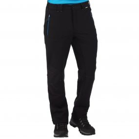 Men's Questra Stretch Softshell Trousers Black