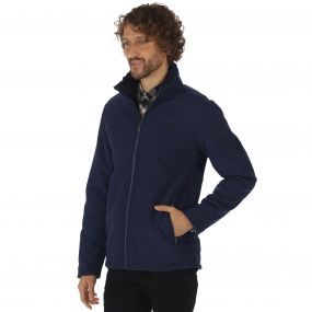 Castiel Sherpa Backed Windproof Softshell Jacket Navy