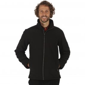 Castiel Sherpa Backed Windproof Softshell Jacket Black