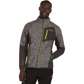Farway II Hybrid Wind Resistant Stretch Softshell Jacket Seal Grey
