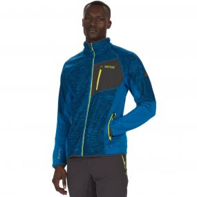 Farway II Hybrid Wind Resistant Stretch Softshell Jacket Petrol Blue