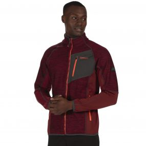 Farway II Hybrid Wind Resistant Stretch Softshell Jacket Spiced Mulberry
