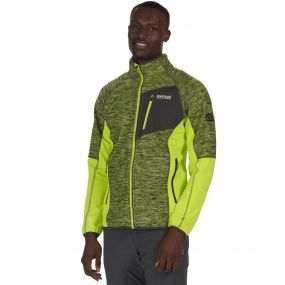 Farway II Hybrid Wind Resistant Stretch Softshell Jacket Lime Green