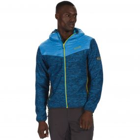 Harra Hybrid Wind Resistant Softshell Jacket with Hood Petrol Blue