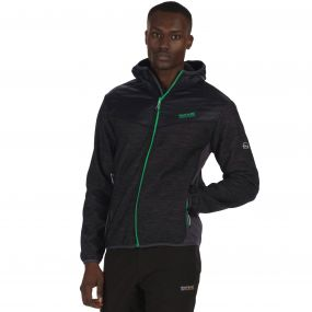 Harra Hybrid Wind Resistant Softshell Jacket with Hood Black