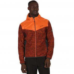 Harra Hybrid Wind Resistant Softshell Jacket with Hood Magma Orange