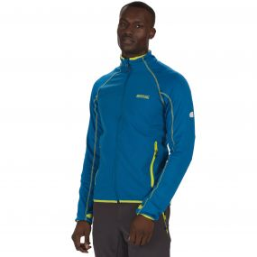 Vorso Stretch Softshell Jacket Petrol Blue Reflective