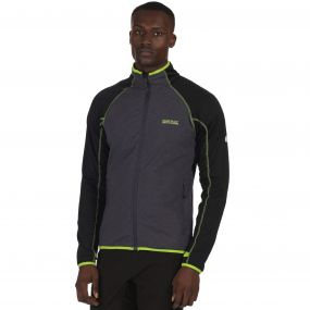 Vorso Stretch Softshell Jacket Black Seal Grey Reflective