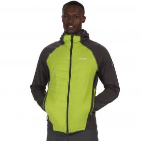 Men's Andreson II Hybrid Stretch Lightweight Insulated Jacket Lime Green
