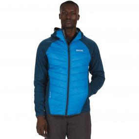 Men's Andreson II Hybrid Stretch Lightweight Insulated Jacket Petrol Blue
