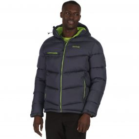 Men's Nevado Super Heavyweight Insulated Hooded Jacket Seal Grey
